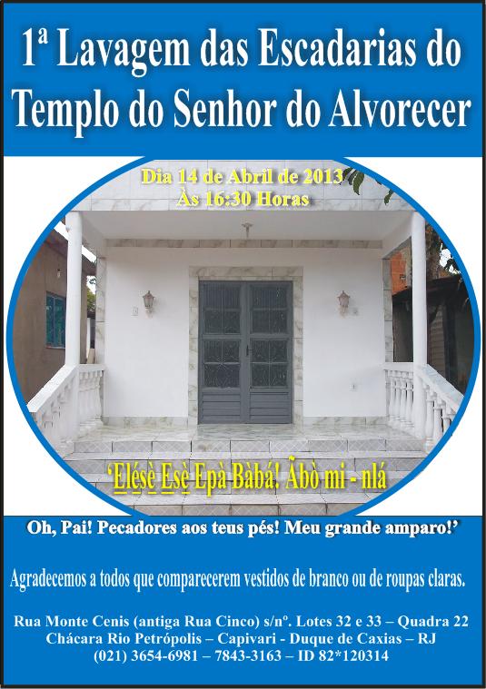 1ª Lavagem das Escadarias do Templo do Senhor do Alvorecer